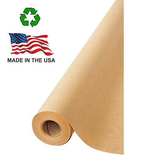 made in usa brown kraft paper jumbo roll x 1200 100ft ideal for gift wrapping art. Black Bedroom Furniture Sets. Home Design Ideas